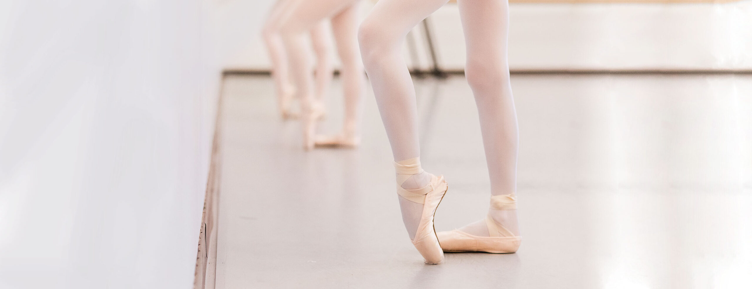 Ballet students in rehearsal